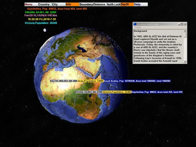 3D World Map Screenshots