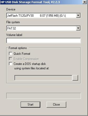 HP USB Disk Storage Format Tool