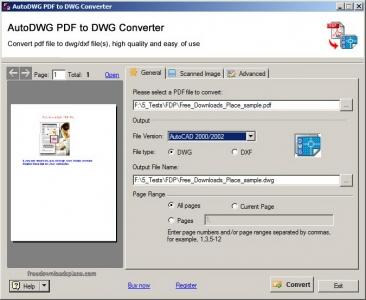 Autodwg PDF To DWG Converter 3