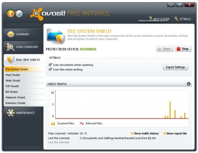 avast! Free Antivirus 3
