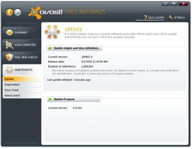 avast! Free Antivirus 4