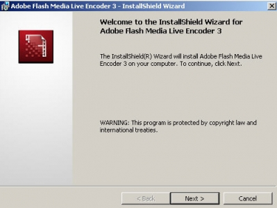 Adobe Flash Media Live Encoder 1